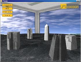 Bildschirm der Software für Systemische Aufstellung Online - lpsCocoon